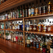 Large selection of whisky