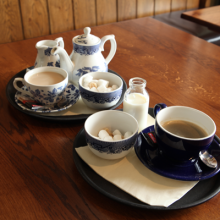 Selection of teas and coffees